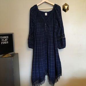 Akemi Kin Anthropologie Codie Plaid Kerchief Dress